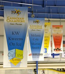 Photo of championship banners