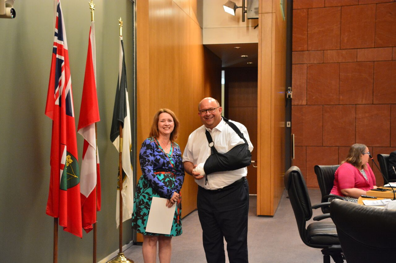 City of Kitchener Certificate of Appreciation Presented to KWSC
