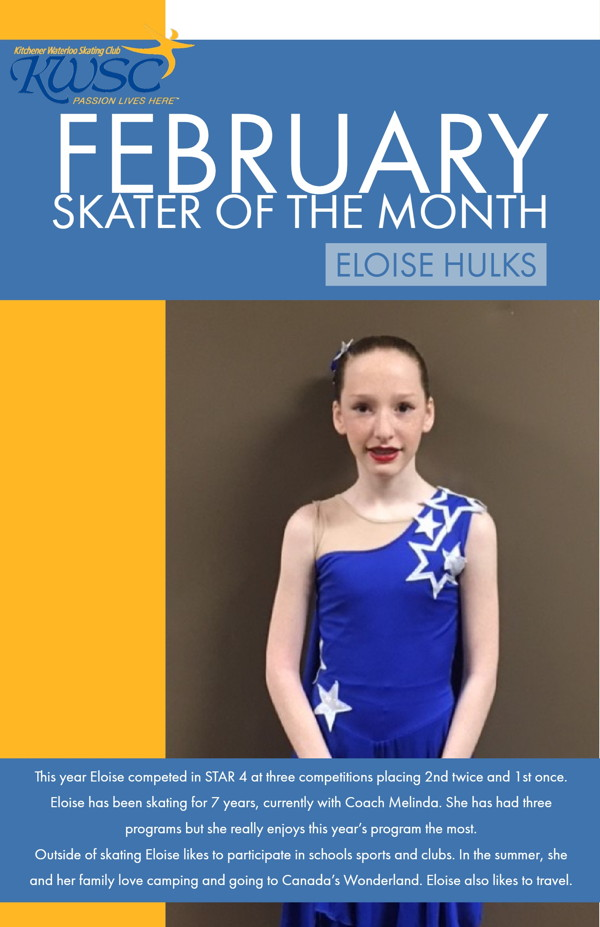 February Skater of the Month - Eloise