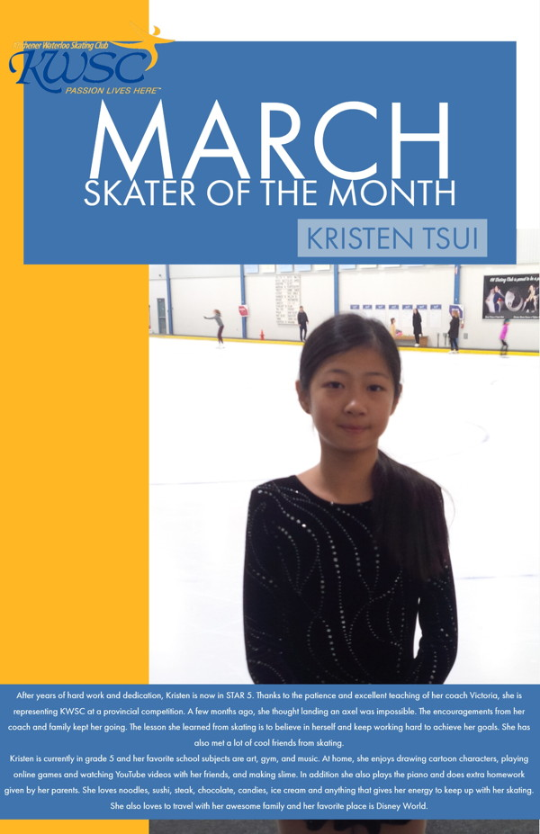 March Skater of the Month - Kristen