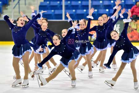 Photo of synchronized skaters